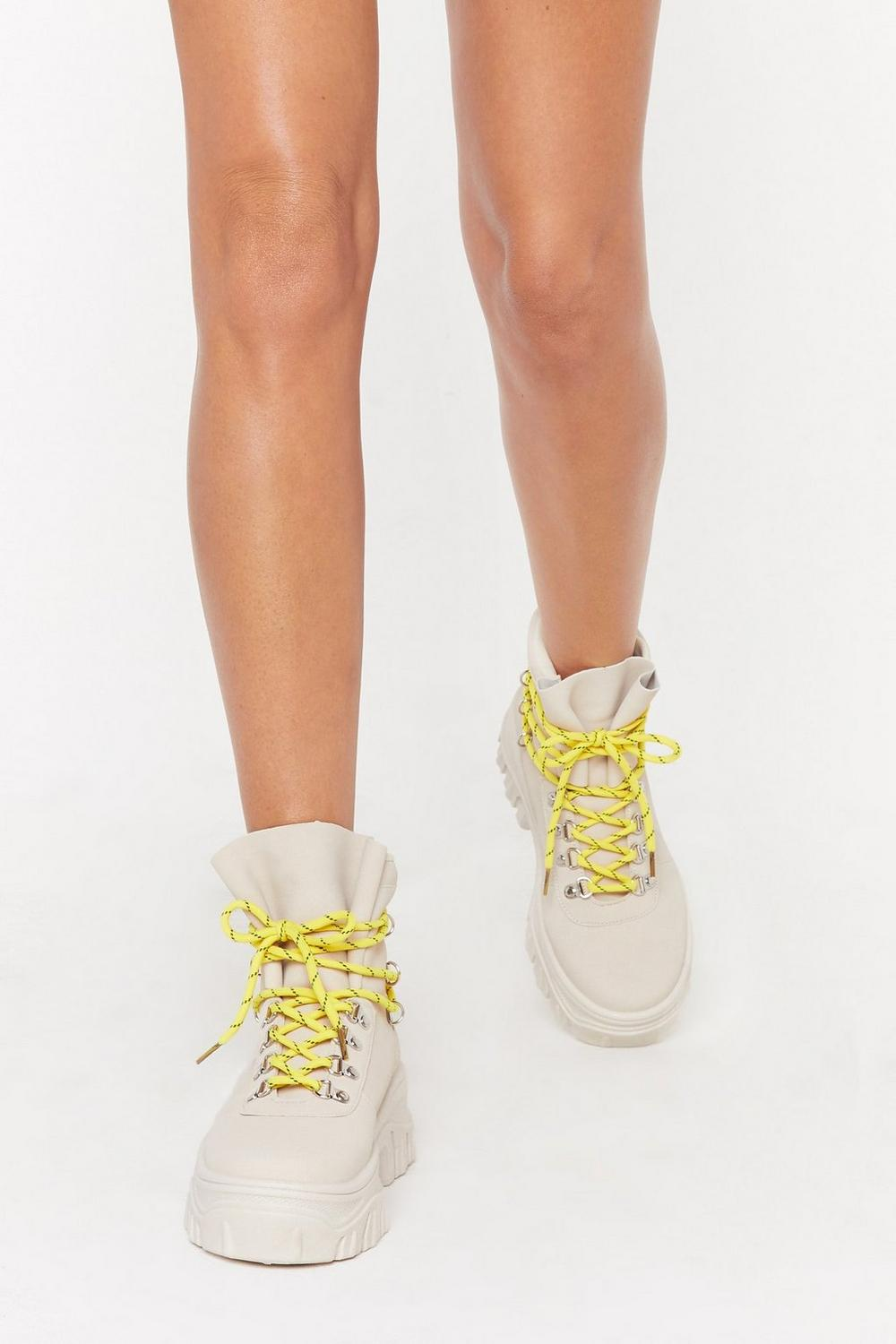 Don't Lace 'em High Top Lace Up Sneakers by Nasty Gal