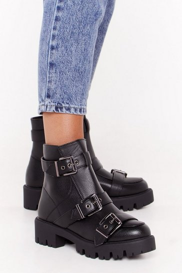 Womens Black Too Big for Your Buckle Boots