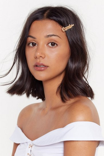 Womens Gold Expensive Taste Hairslide