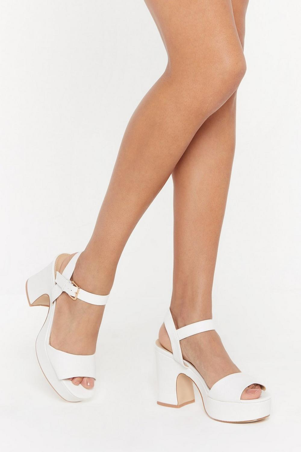 Notch This Again Faux Leather Platform Heels by Nasty Gal