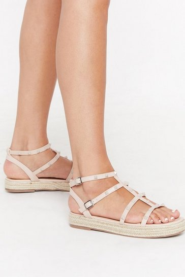 Womens Nude Thought You Understud Espadrille Sandals