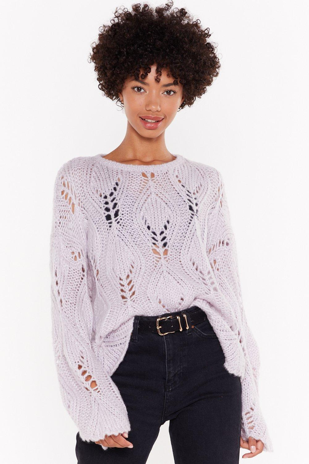 The Pointelle Of No Return Knit Jumper by Nasty Gal