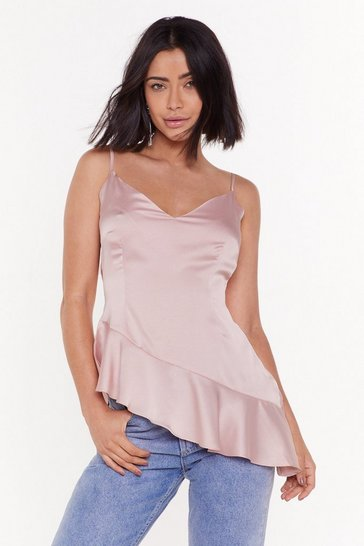 Womens Blush What's Satin-ing Cami Top