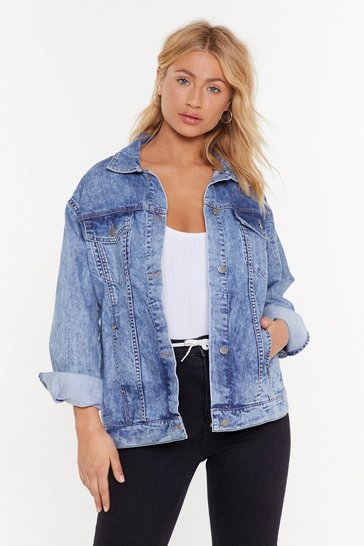 Womens Light blue Oversized Denim Jacket