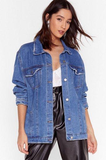 Mid blue Good Day For Denim Oversized Jacket