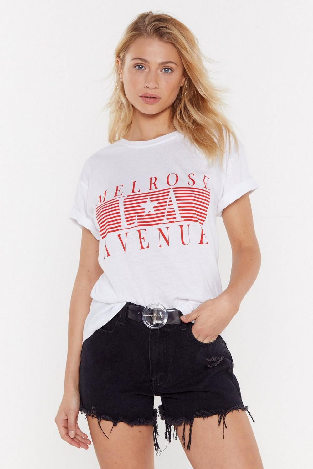 Melrose Avenue Graphic Tee by Nasty Gal
