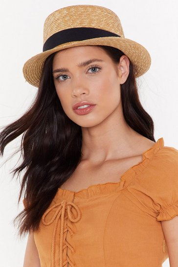 Womens Natural Hold onto Your Straw Hat
