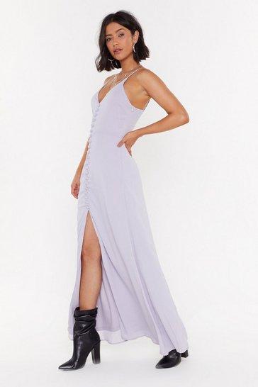f563bc5de Don't Take Any Slit Plus Button-Down Maxi Dress