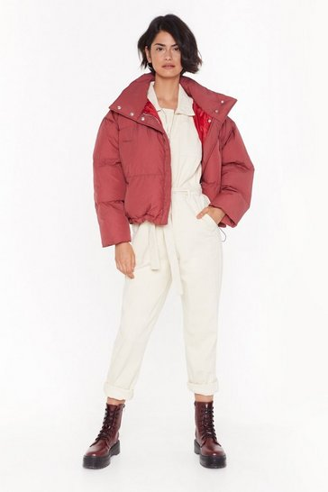 Rose All Bases Covered Padded Cropped Coat