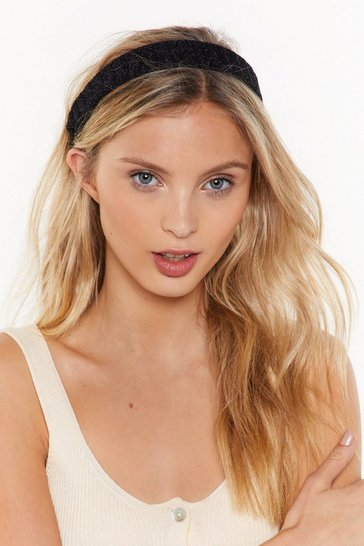 Womens Black All That Glitters Headband