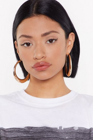 Gold Jumping Through Hoops Oversized Earrings