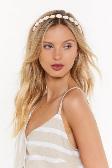 Womens Cream Hot Like Shell Headband