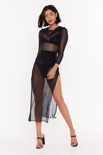 Womens Black Disco Circus Metallic Dress