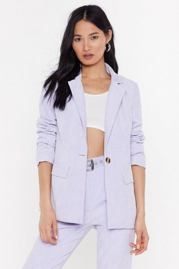 Womens Lilac Girl in the Thunderbolt Suit Jacket