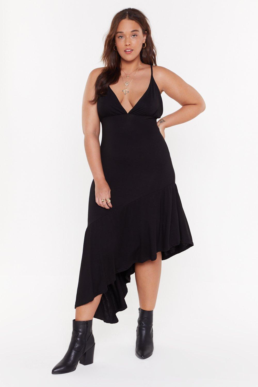 Ruffle Midi Dress MS