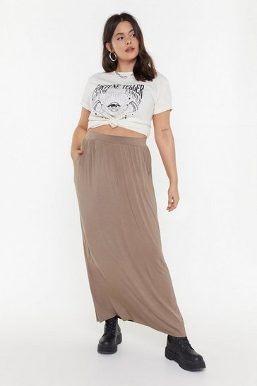 Womens Mocha MS Pocket Maxi Skirt