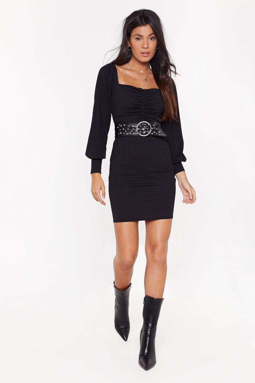 All Night Long Ruched Mini Dress