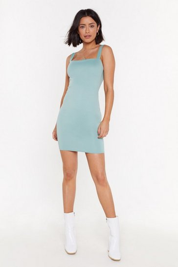 Womens Sage Let's Go On a Date Mini Dress