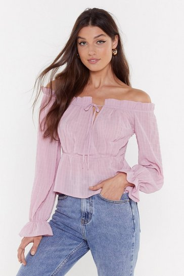 Blush She's Off-the-Shoulder Again Blouse
