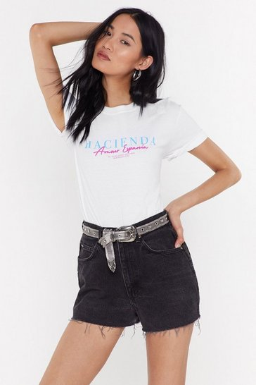 Womens White Hacienda Tee
