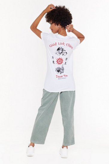 Womens White My Lucky Charm Graphic Tee