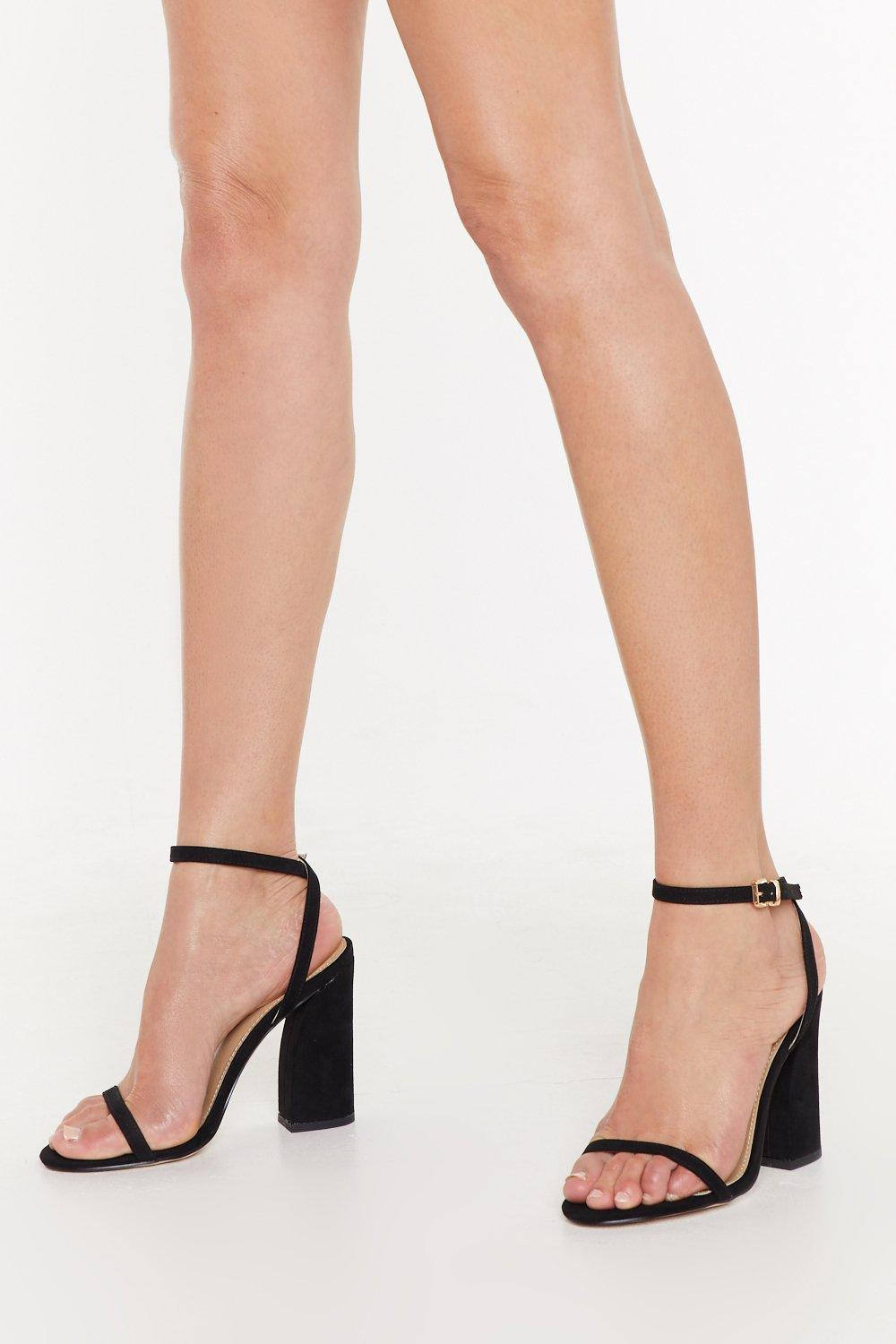 New Kid On The Block Faux Suede Strappy Sandals by Nasty Gal