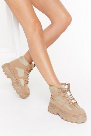 Womens Camel Hey Sole Sister Hiker Boot Sneaker