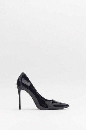 7dada41fa12 Patent Patiently Stiletto Court Heels