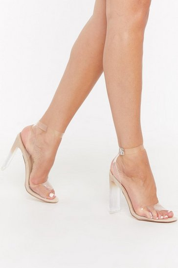 Womens Nude Let's Make It Clear Ombre Heels