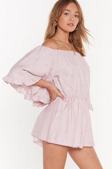 Womens Blush PEARL GONE WILD OFF THE SHOULDER