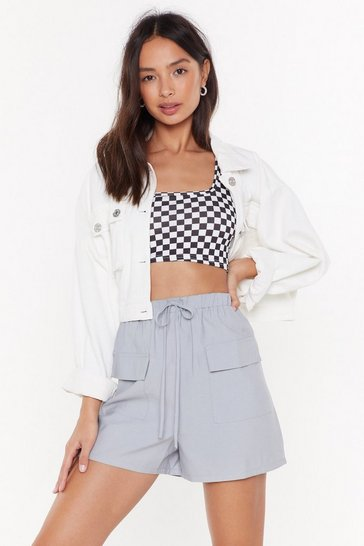 Grey It's Not Pocket Science High-Waisted Shorts