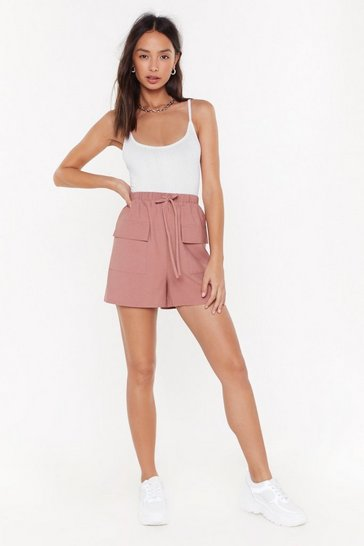 Womens Mocha It's Not Pocket Science High-Waisted Shorts
