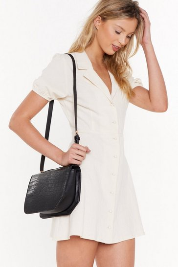 Womens Black WANT Croc Your Baby Crossbody Bag