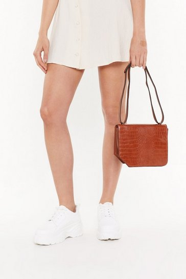 Womens Brown WANT Croc Your Baby Crossbody Bag