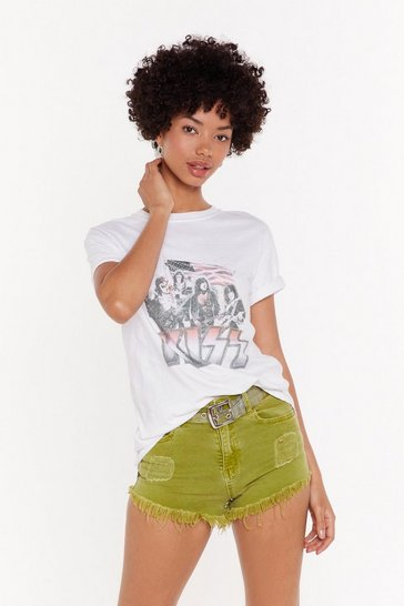 Womens Lime I Raw What You Did Denim Shorts
