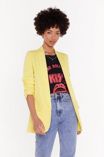 Womens Lemon Meeting in the AM Longline Blazer