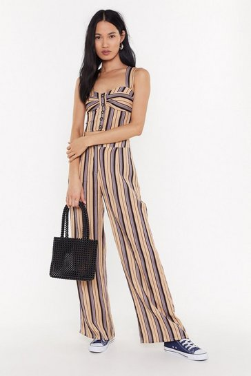 Womens Stone  All the Stripe Reasons Wide-Leg Pants