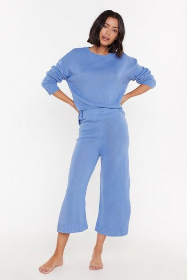 Womens Blue You've Met Your Match Trouser Lounge Set