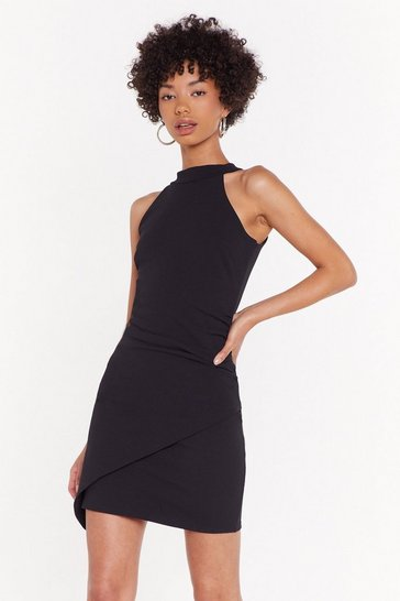 Womens Black Takin' Back My Love Halterneck Mini Dress