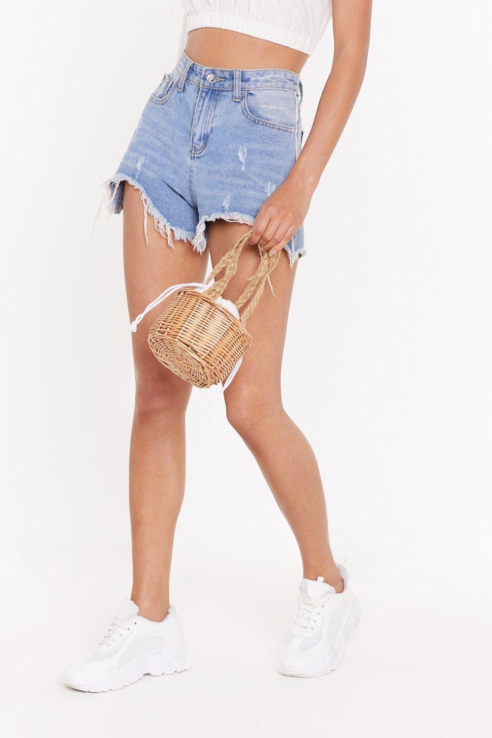 Want The Wood Life Wooden Mini Basket Bag by Nasty Gal