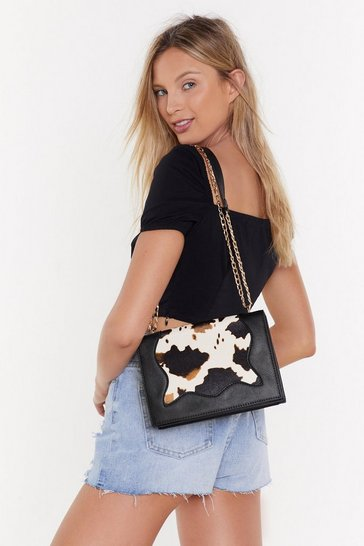 Womens Black WANT It's Got to Cow Adjustable Bag