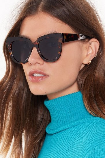 Womens Brown Not What You Tort Square Sunglasses