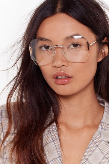Womens All Becomes Clear Oversized Glasses