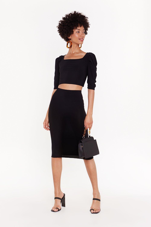 Bodycon Co-ord Midi Skirt