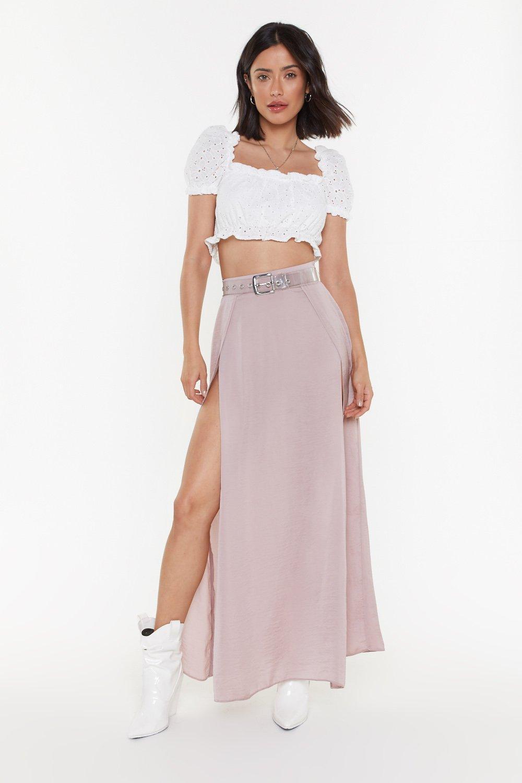 Wrap Split Maxi Skirt by Nasty Gal