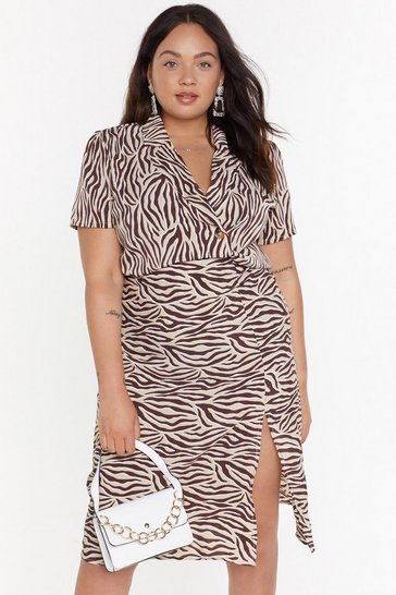 Womens Beige Real Wild Child Zebra Shirt
