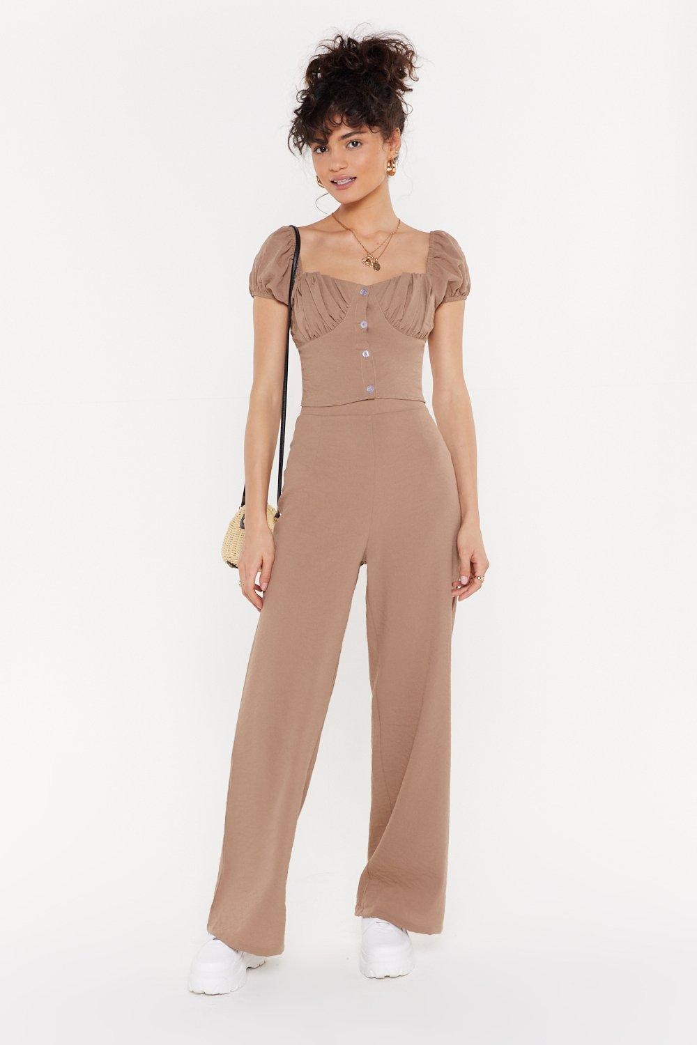 Clean Up Your Act Wide Leg Linen Trousers by Nasty Gal