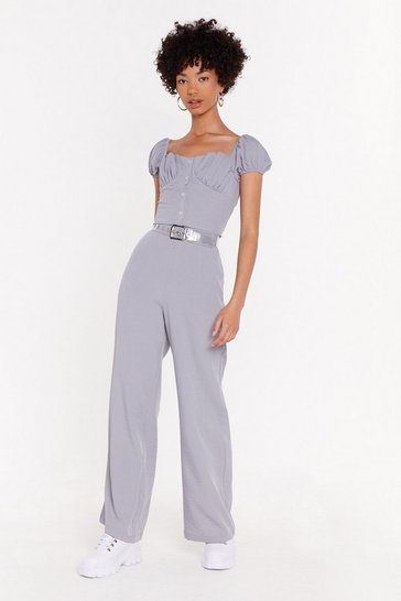 Womens Blue High On Life High-Waisted Linen Pants