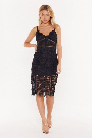 Womens Black I'm All Over the Place Cut-Out Midi Dress