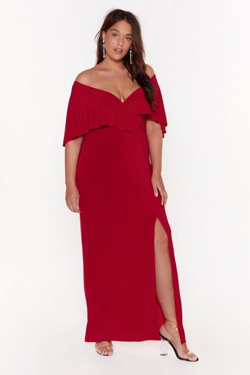 Womens Red Seduce Me Plus Maxi Dress